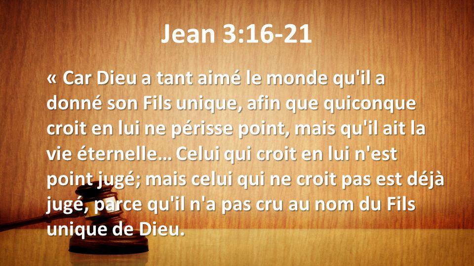 Jean 3:16-21