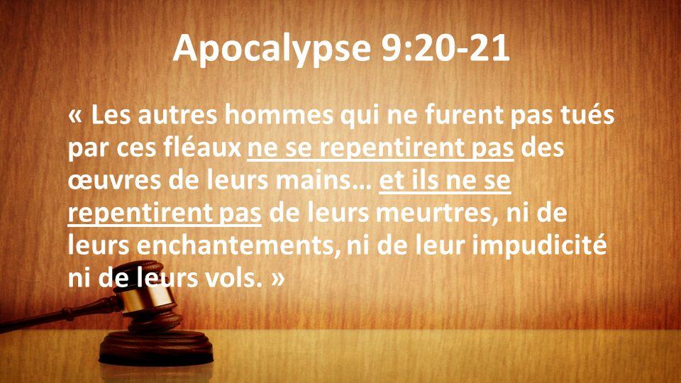 Apocalypse 9:20-21
