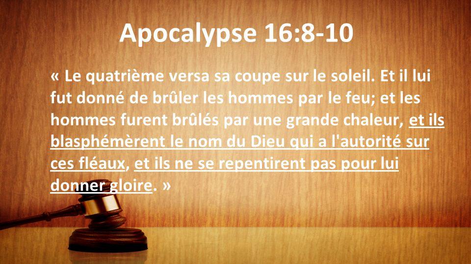 Apocalypse 16:8-10