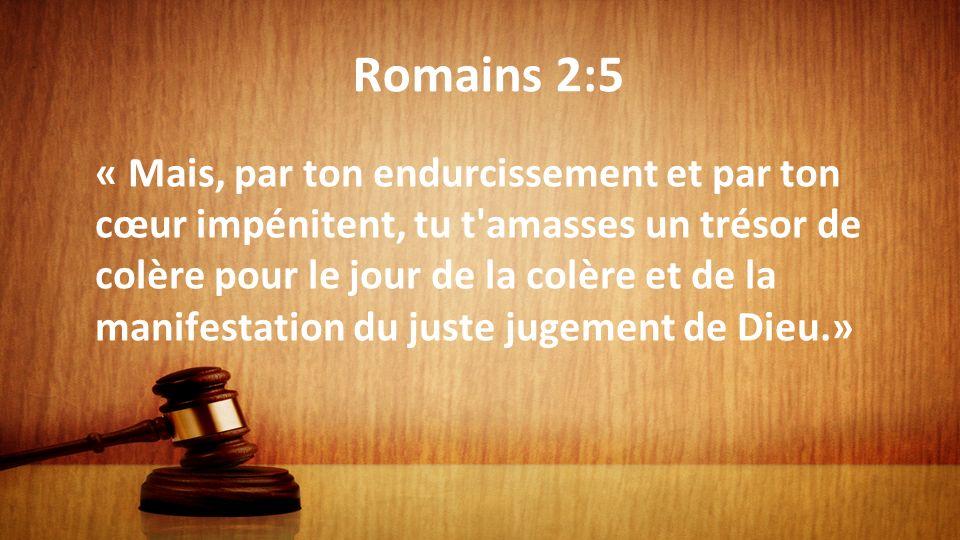 Romains 2:5