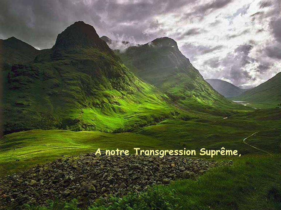 A notre Transgression Suprême,