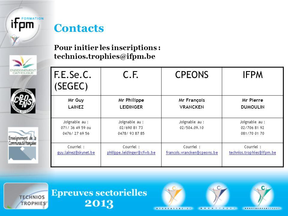 Contacts F.E.Se.C. (SEGEC) C.F. CPEONS IFPM