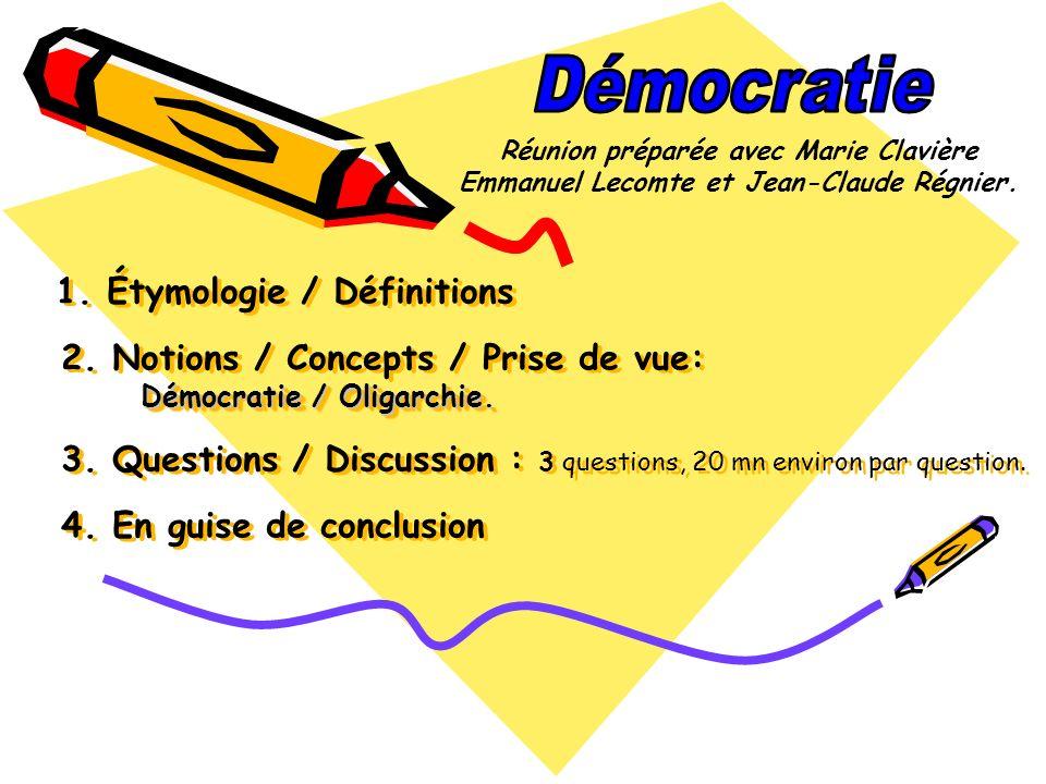 Démocratie Réunion préparée avec Marie Clavière. Emmanuel Lecomte et Jean-Claude Régnier.