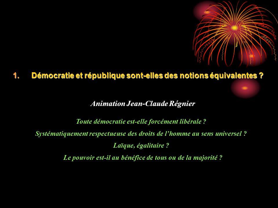 Démocratie et république sont-elles des notions équivalentes