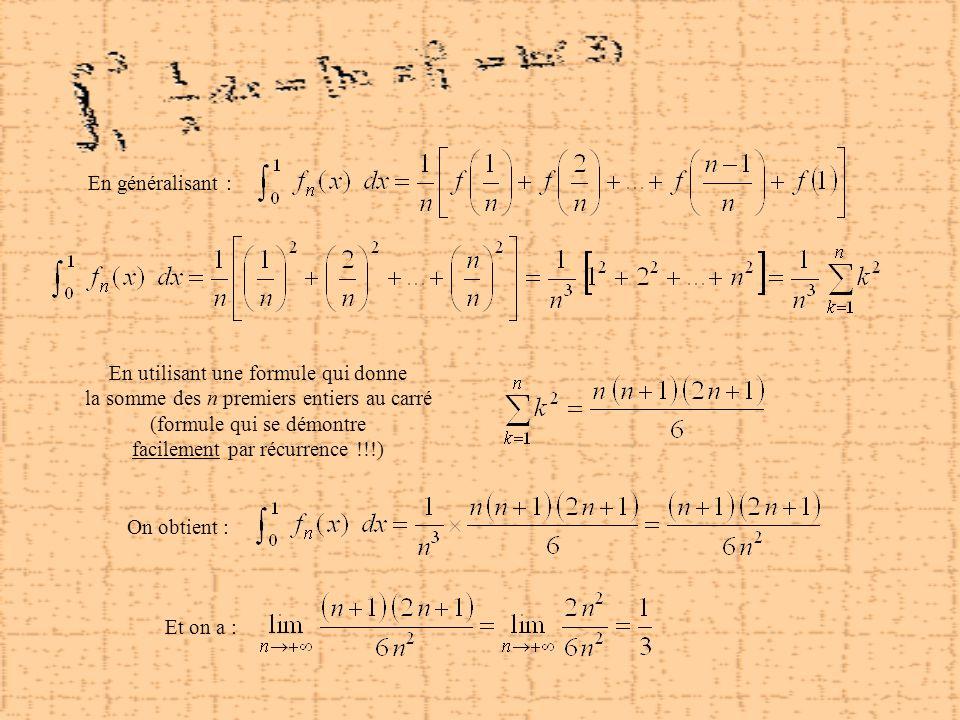 En utilisant une formule qui donne