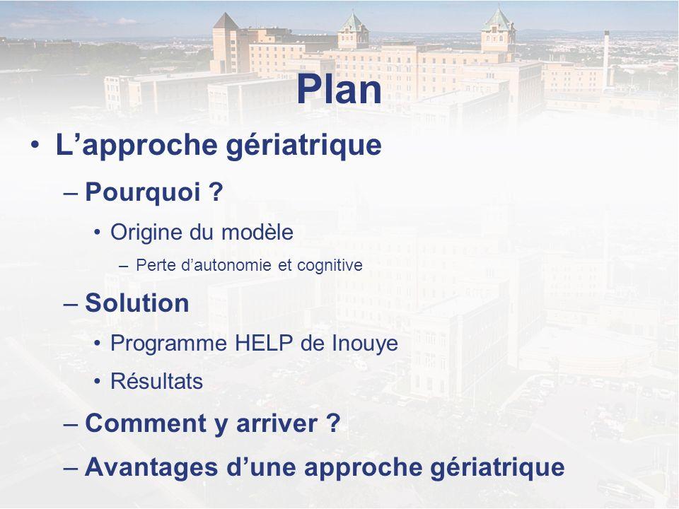 Plan L'approche gériatrique Pourquoi Solution Comment y arriver
