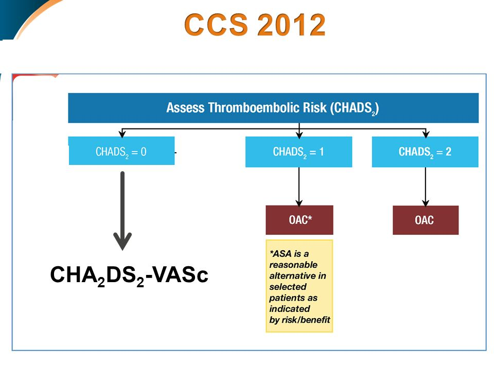 CCS 2012 CHA2DS2-VASc RE: ≤0.5% ˂1.5% ≥ %