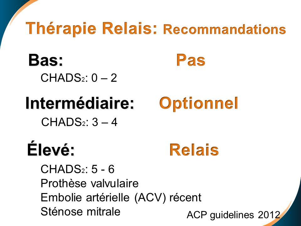 Thérapie Relais: Recommandations