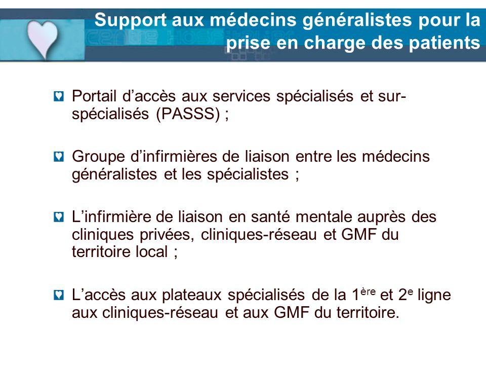 Support aux médecins généralistes pour la prise en charge des patients