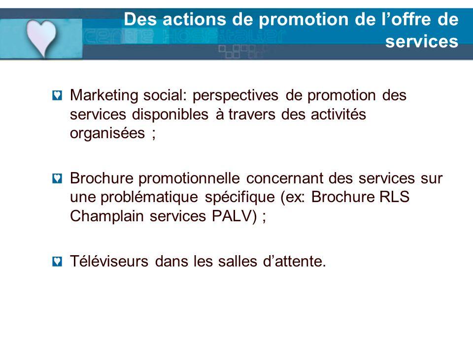 Des actions de promotion de l'offre de services