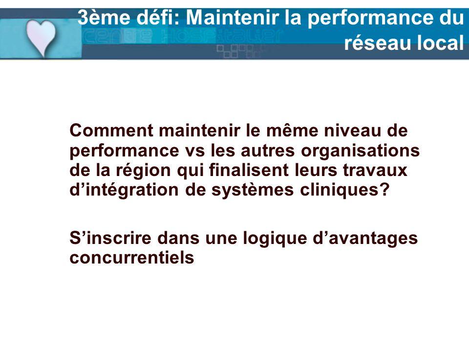 3ème défi: Maintenir la performance du réseau local