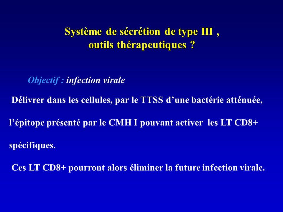 Système de sécrétion de type III , outils thérapeutiques