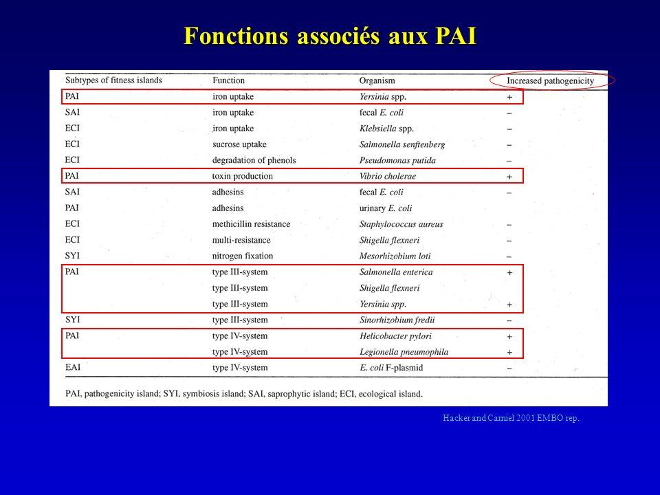 Fonctions associés aux PAI