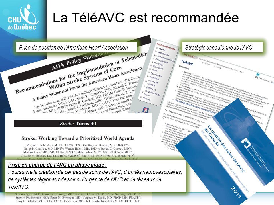 La TéléAVC est recommandée
