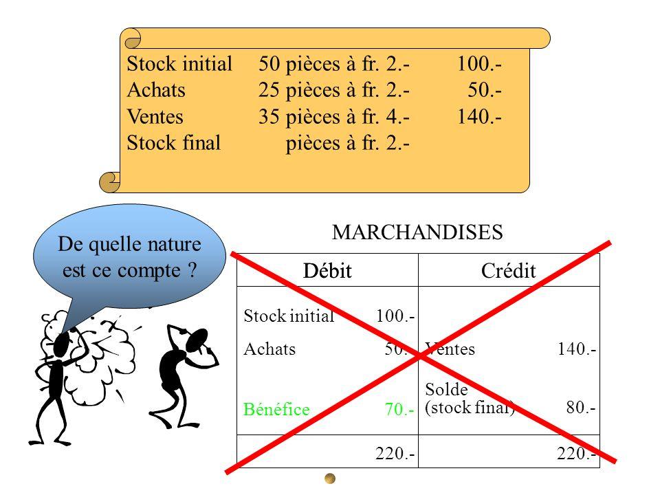 Stock initial 50 pièces à fr. 2.- 100.-