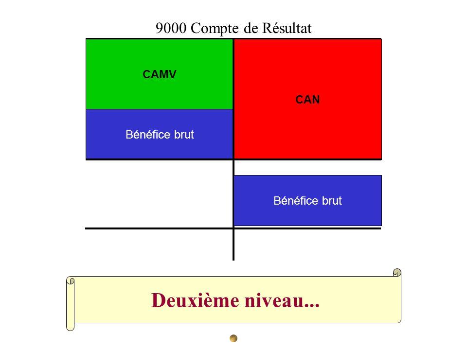 Deuxième niveau... 9000 Compte de Résultat CAMV CAN Bénéfice brut