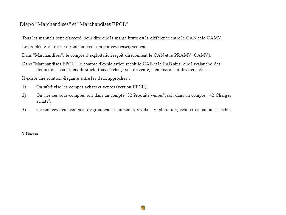 Diapo Marchandises et Marchandises EPCL