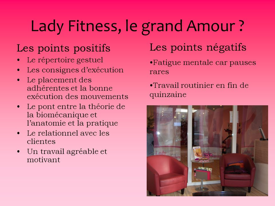 Lady Fitness, le grand Amour