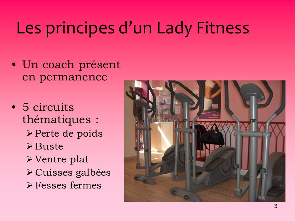 Les principes d'un Lady Fitness