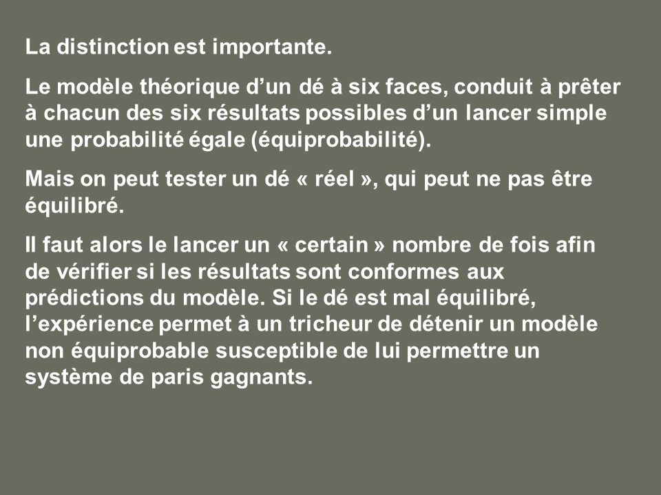 La distinction est importante.