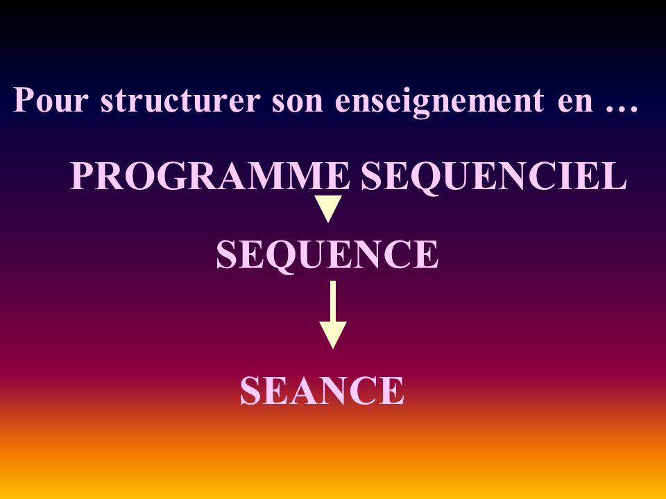Pour structurer son enseignement en …