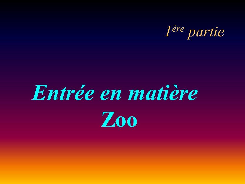 1ère partie Entrée en matière Zoo