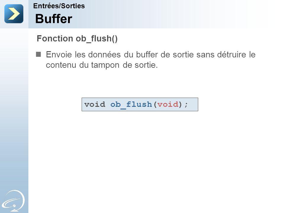 Buffer Fonction ob_flush()