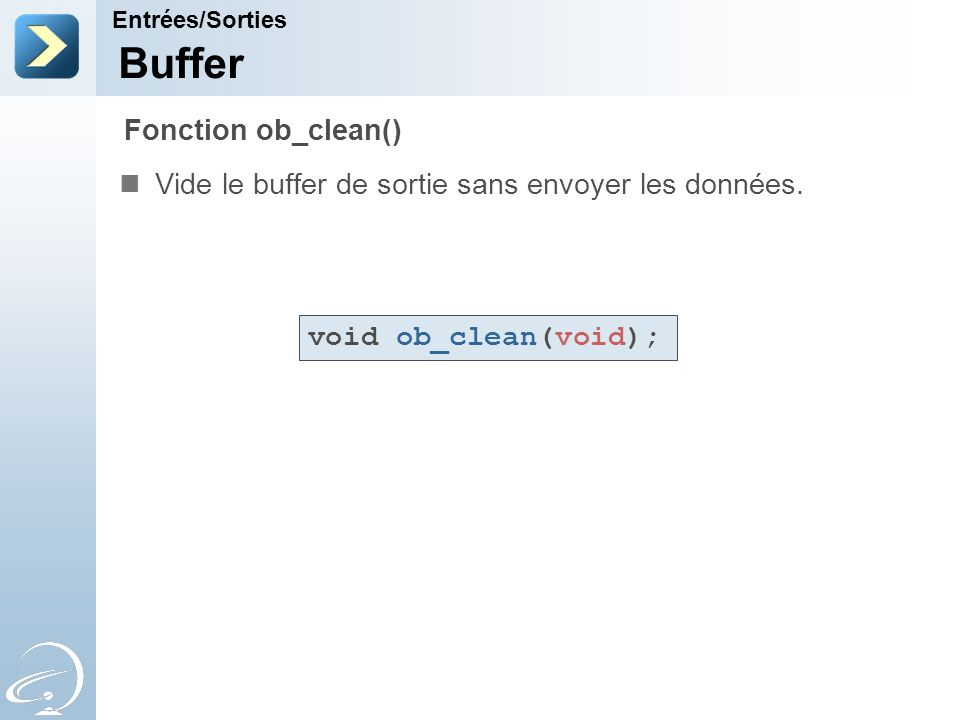 Buffer Fonction ob_clean()