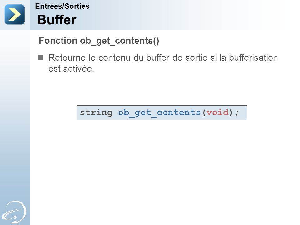 Buffer Fonction ob_get_contents()