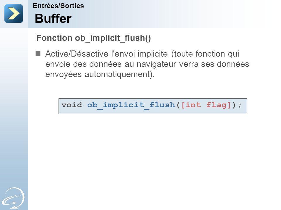 Buffer Fonction ob_implicit_flush()