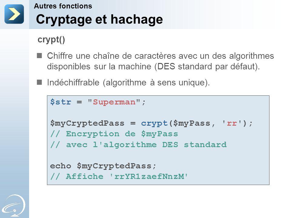 Cryptage et hachage crypt()