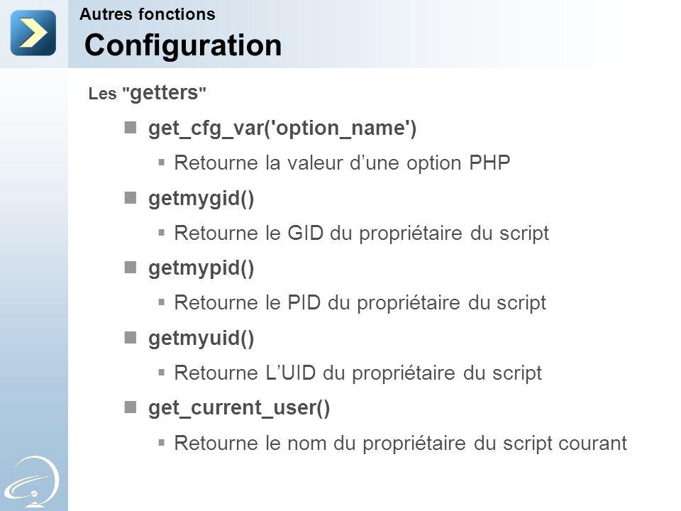 Configuration get_cfg_var( option_name )
