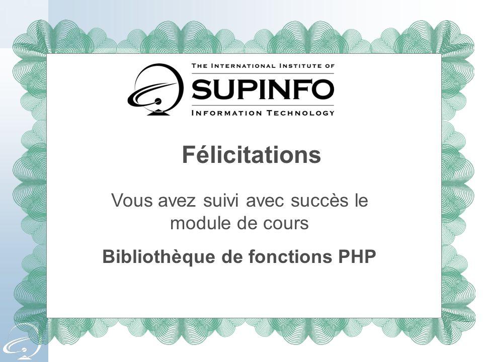 Bibliothèque de fonctions PHP