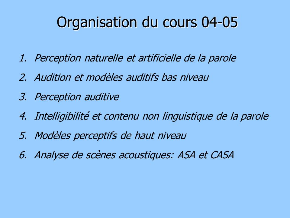 Organisation du cours 04-05