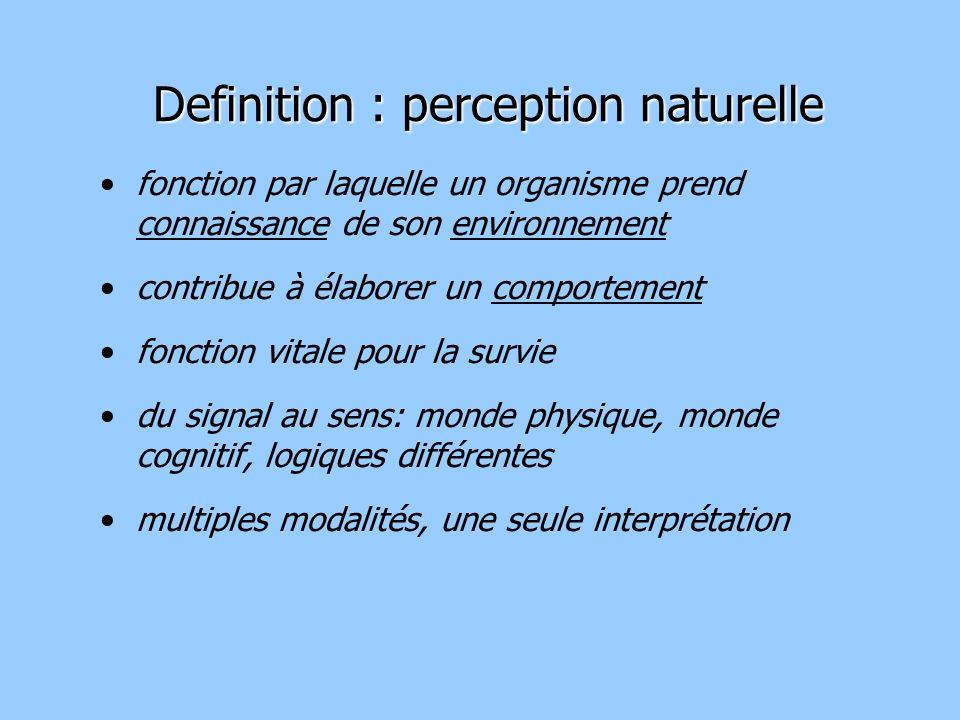 Definition : perception naturelle