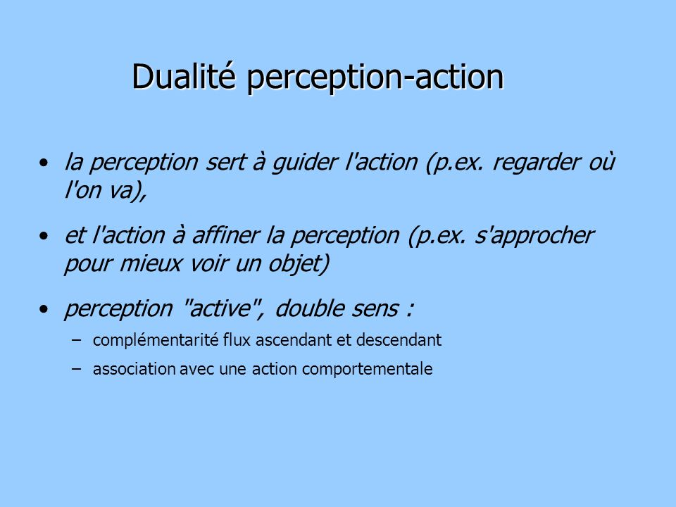 Dualité perception-action
