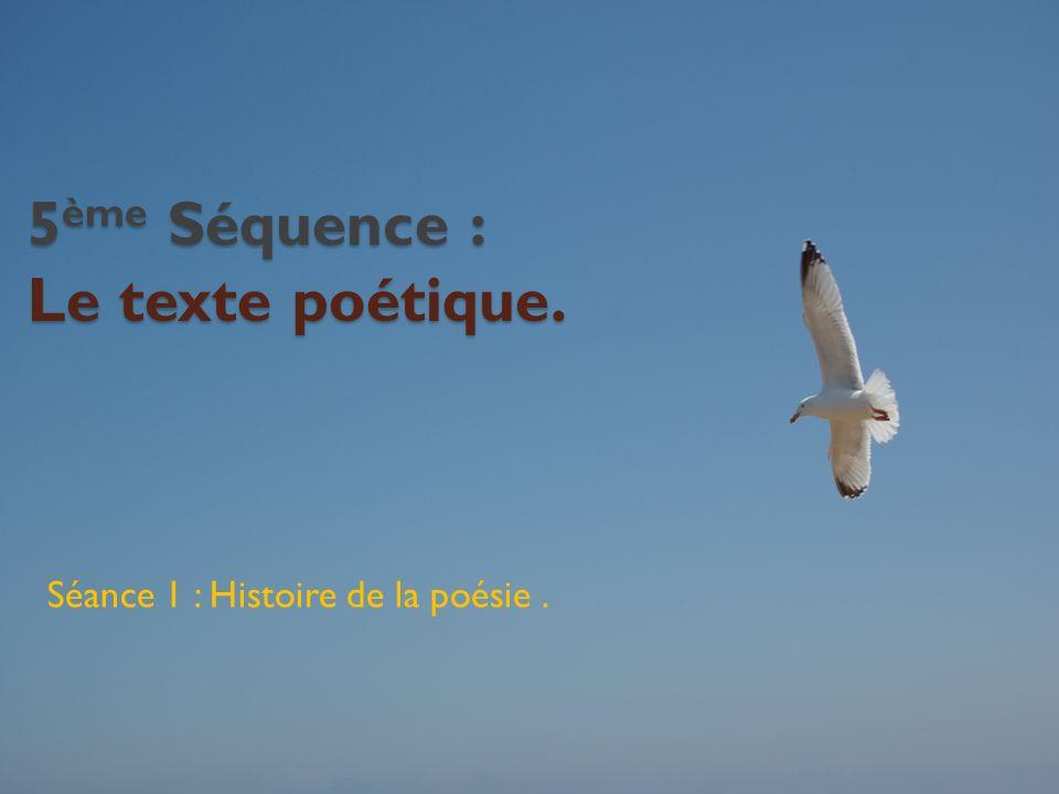 5ème Séquence : Le texte poétique.