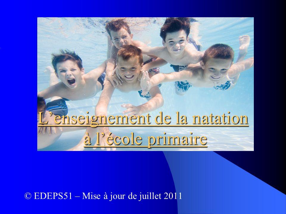 L'enseignement de la natation à l'école primaire