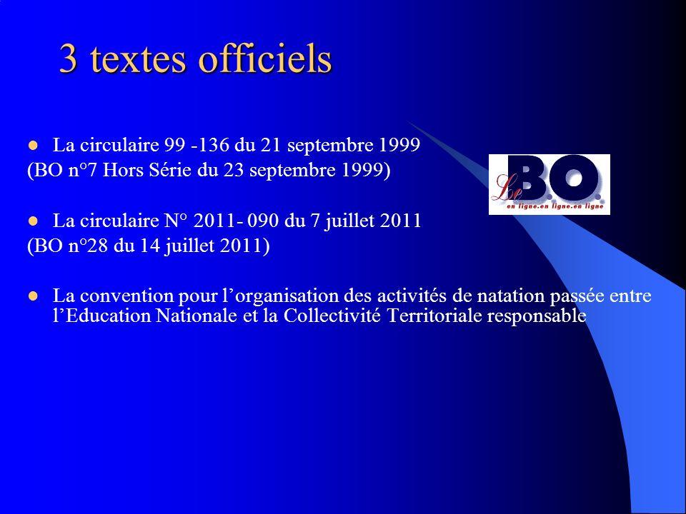 3 textes officiels La circulaire 99 -136 du 21 septembre 1999