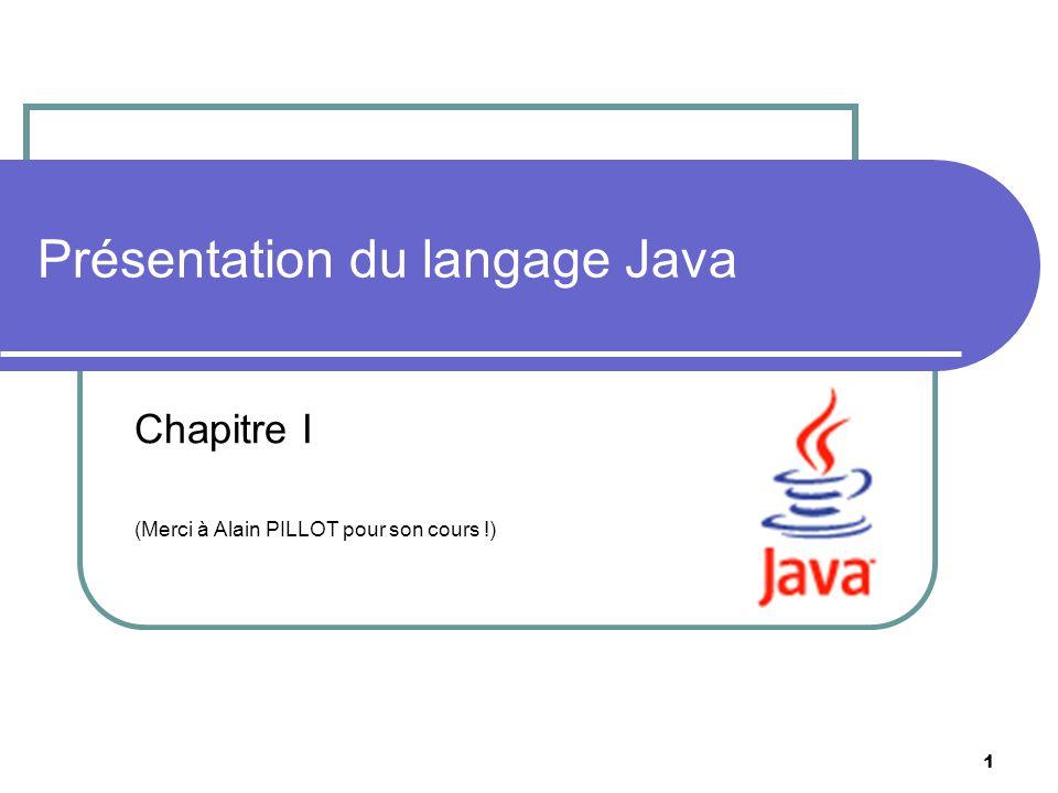 Présentation du langage Java