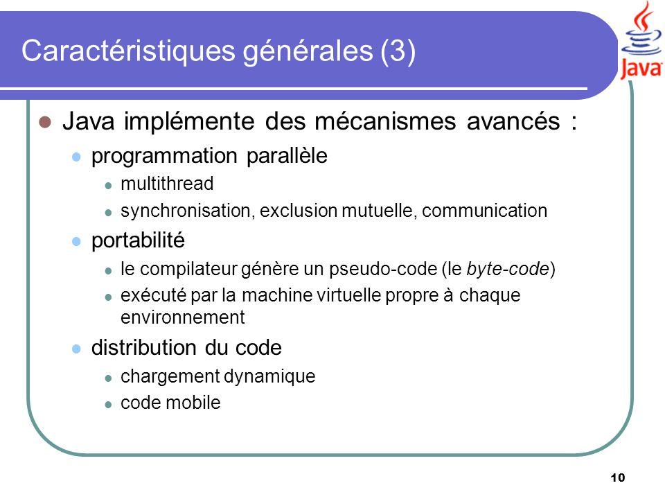 Caractéristiques générales (3)