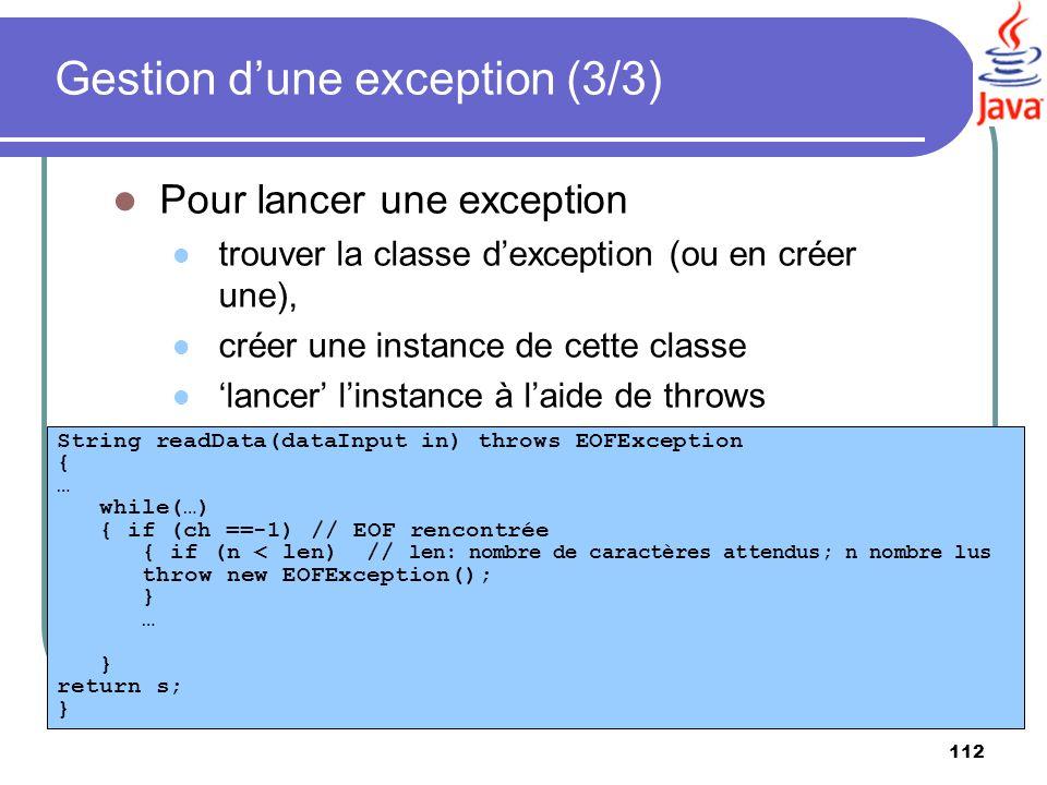 Gestion d'une exception (3/3)
