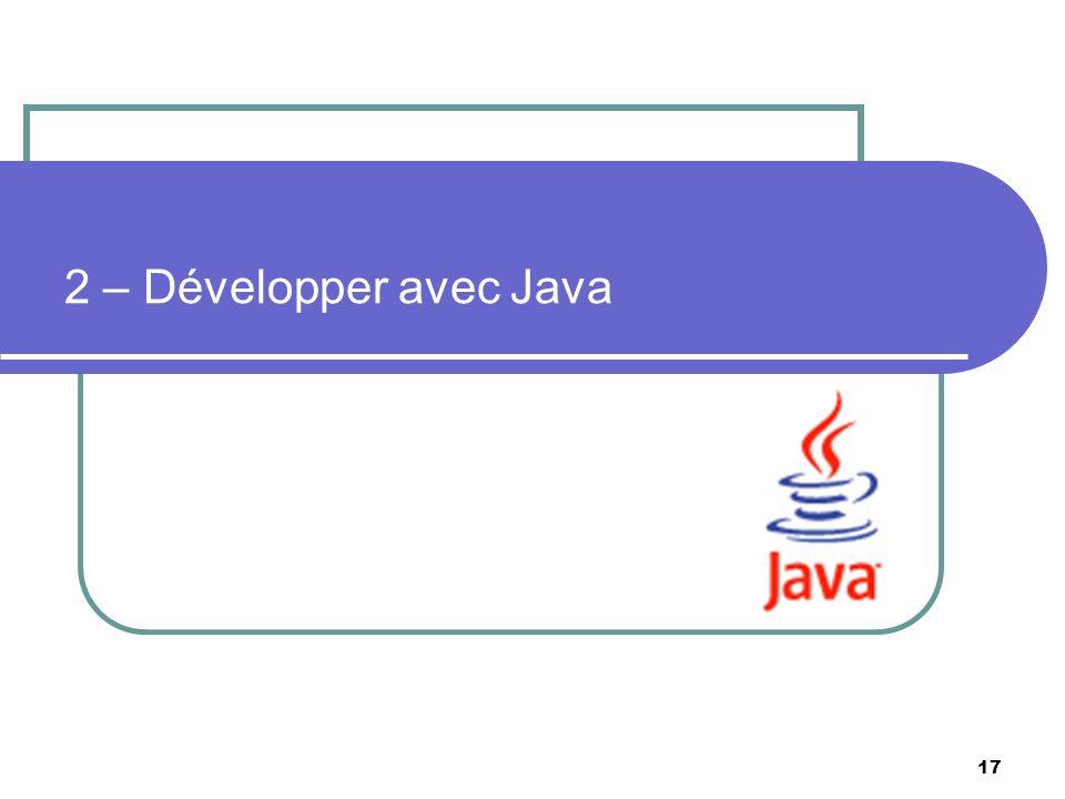 2 – Développer avec Java