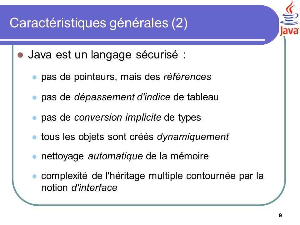 Caractéristiques générales (2)