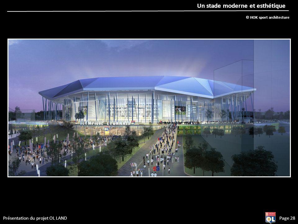 Un stade moderne et esthétique