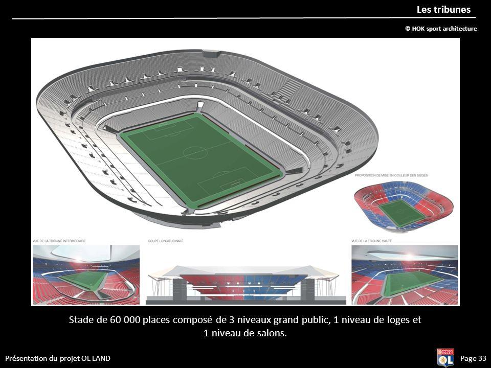 Les tribunes © HOK sport architecture. Stade de 60 000 places composé de 3 niveaux grand public, 1 niveau de loges et.