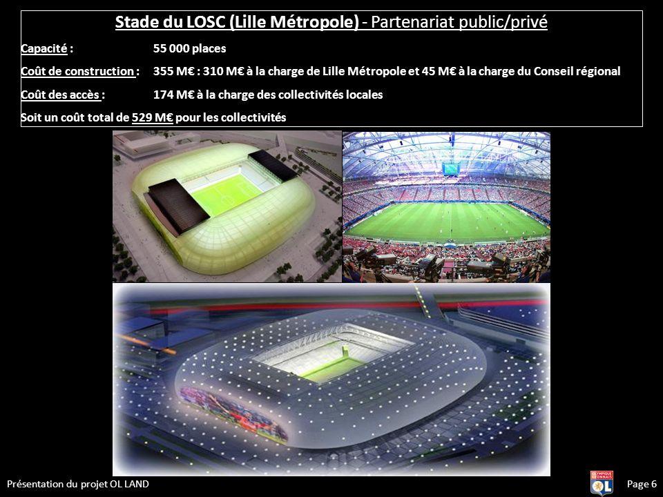 Stade du LOSC (Lille Métropole) - Partenariat public/privé