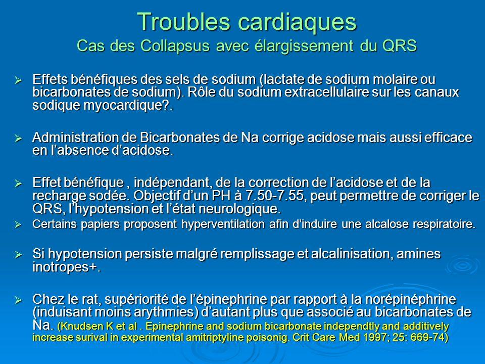 Troubles cardiaques Cas des Collapsus avec élargissement du QRS