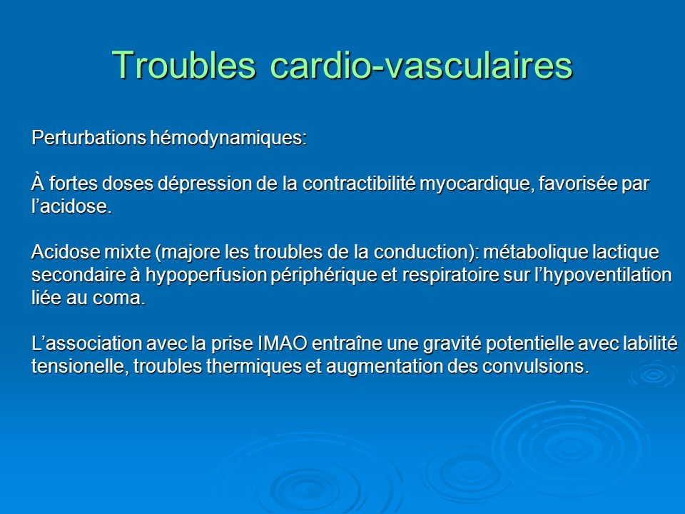 Troubles cardio-vasculaires