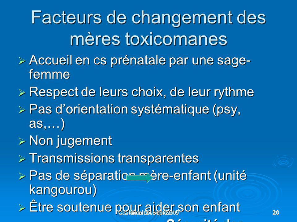 Facteurs de changement des mères toxicomanes